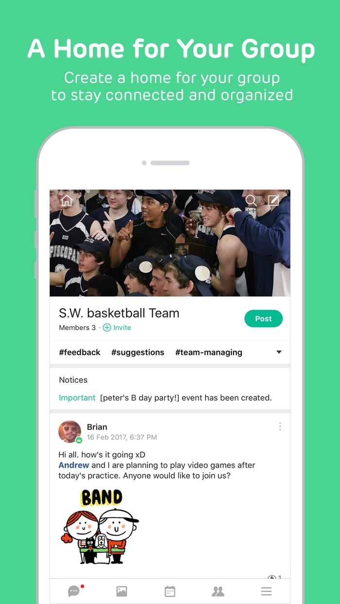 BAND - Organize your groups Screenshot