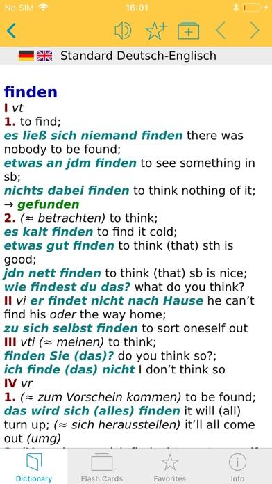 Big German English Dictionary Screenshot on iOS