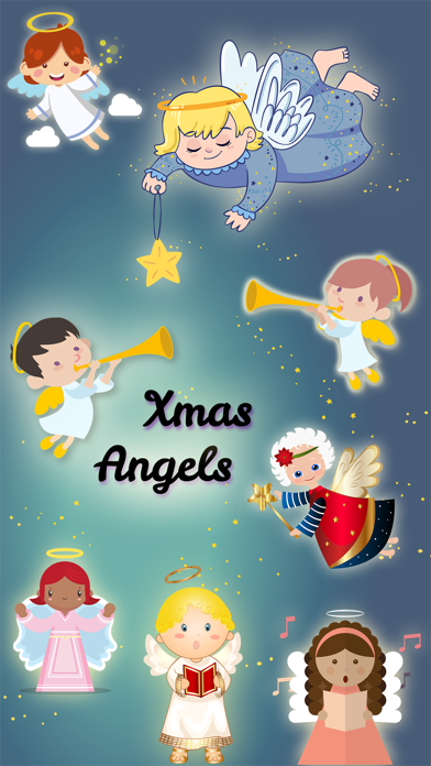 Xmas Angels Emoji & Stickers screenshot one
