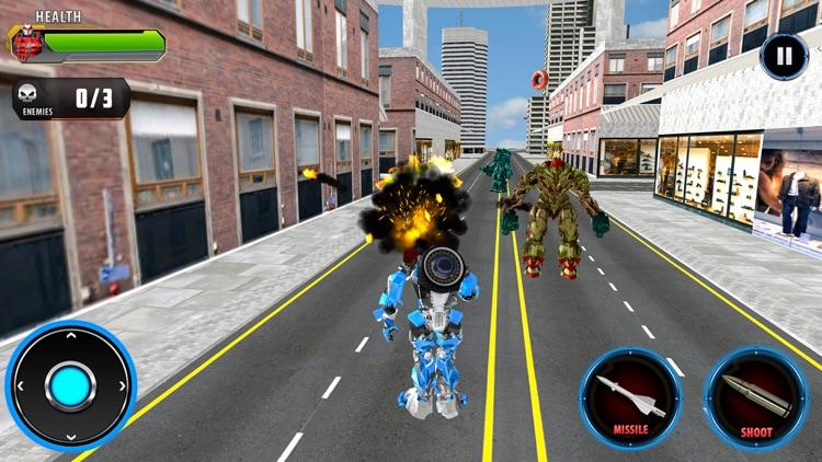 Police Car Robot Transform screenshot-0