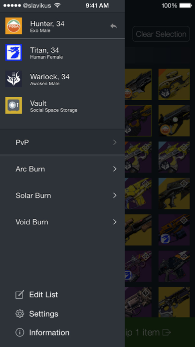 Loadouts for Destiny Screenshot