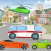 学校の子供のための車と車が楽しい!自由な発想の作業