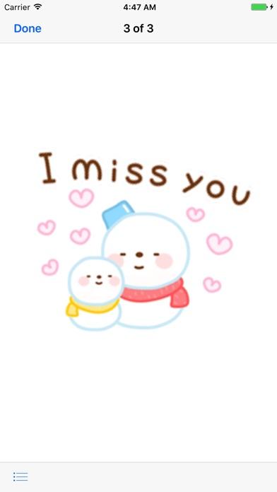 Cute Snowman Emoji Sticker screenshot 2