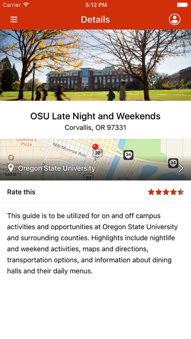 OSU Late Night and Weekends screenshot two