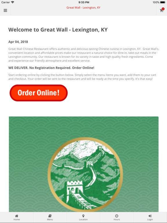 Great Wall Lexington Ky App Price Drops