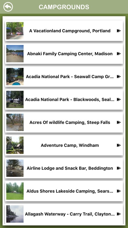 Maine Campgrounds Offline screenshot-2
