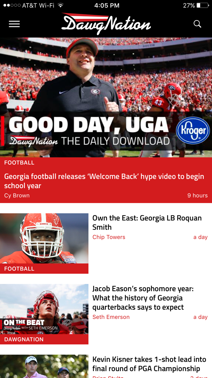 DawgNation - Georgia Bulldogs Screenshot