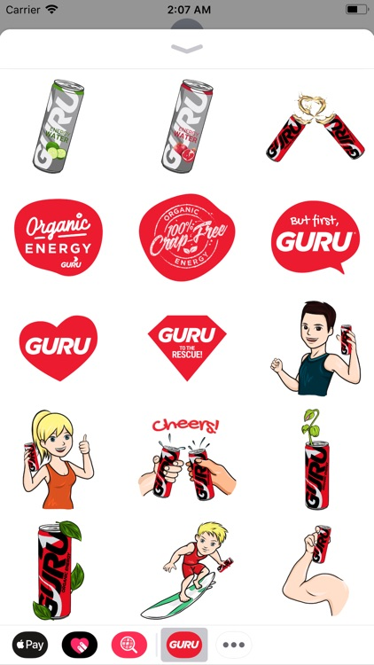 GURU Organic Energy Stickers