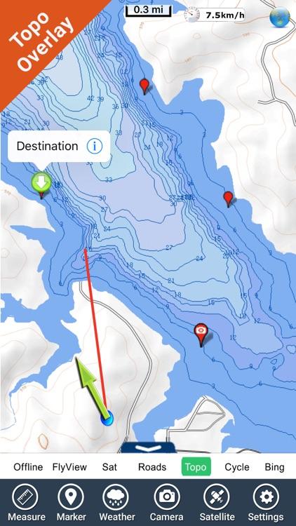 Lake Sakakawea fishing Charts screenshot-3