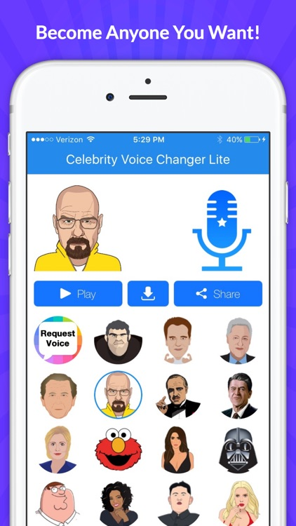 Celebrity Voice Changer -Emoji