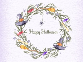 All new style of Watercolor Halloween Stickers