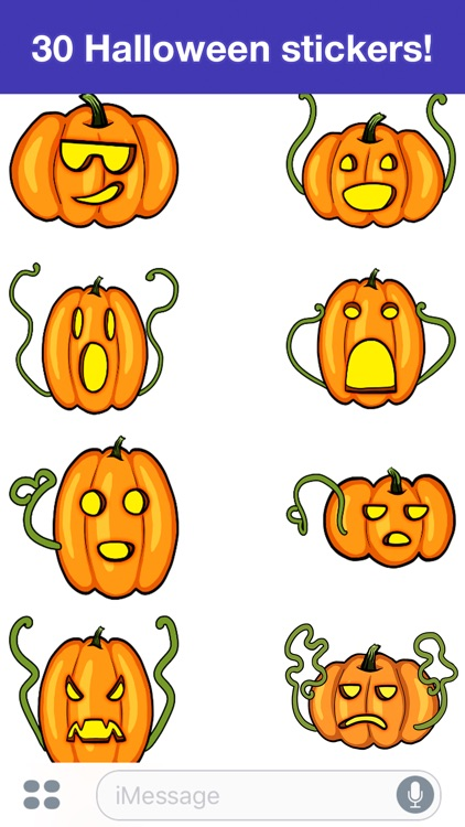 Pumpkins - Halloween stickers