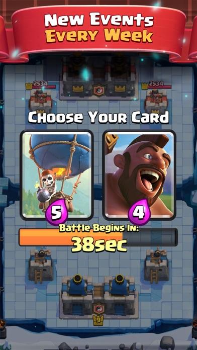 Screenshot of Clash Royale App