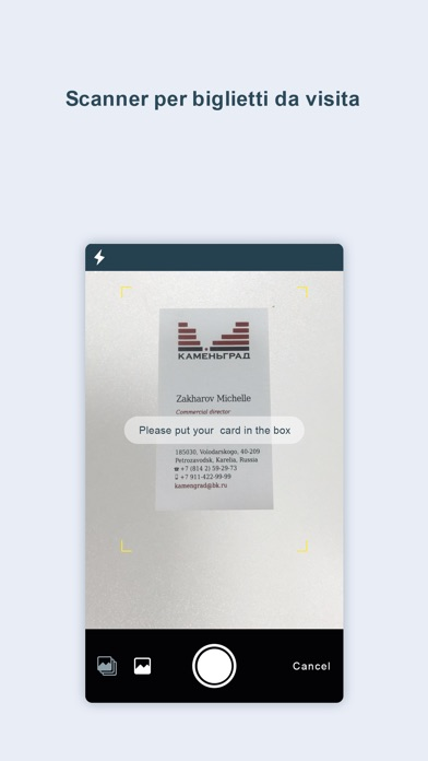 Screenshot for Business card reader pro& OCR in Italy App Store