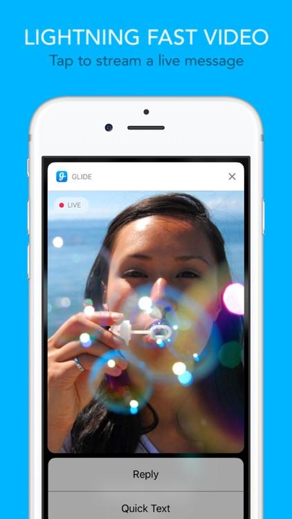 Glide - Live Video Messenger screenshot-0