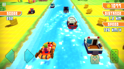 Screenshot from Blocky Highway