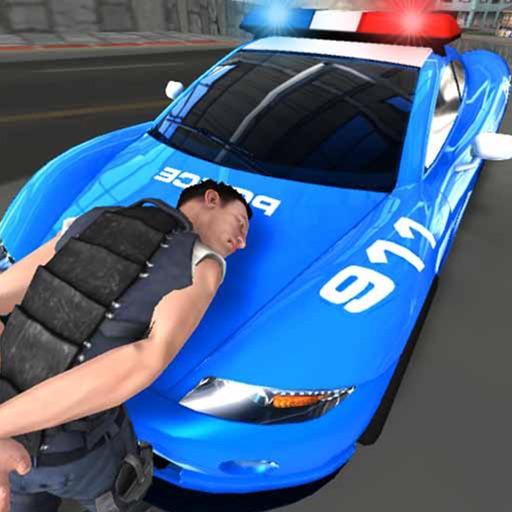 Police Car Gangster Escape Sim