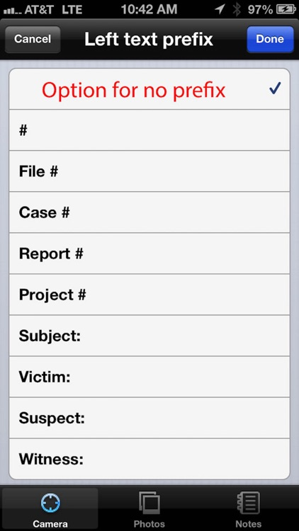 EvidenceCamphoto - evidence for iPhone & iPod