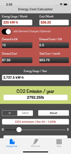 energy cost calculator on the app store