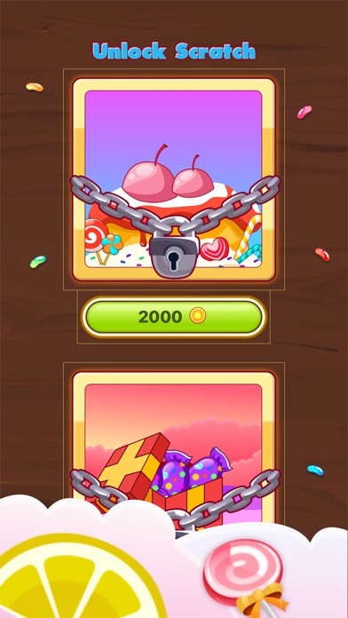 Screenshot for Candy Scratch - Sweet Prize in Japan App Store