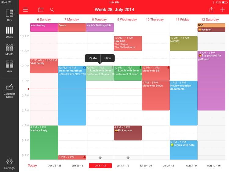 Week Calendar for iPad