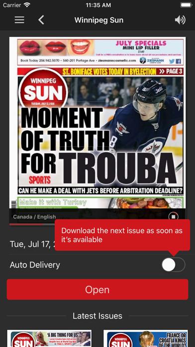 Winnipeg Sun ePaperScreenshot of 2