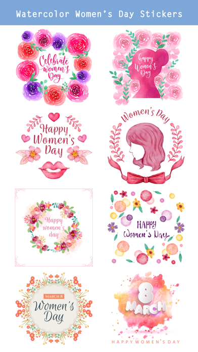 Happy Women's Day Stickers Set screenshot 2