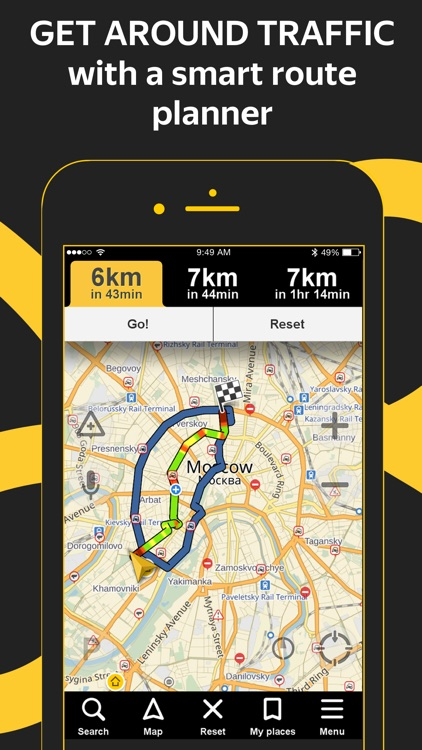 Yandex.Navi – navigation, maps screenshot-0