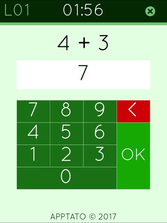 Сложение математика игра 2 на iPad