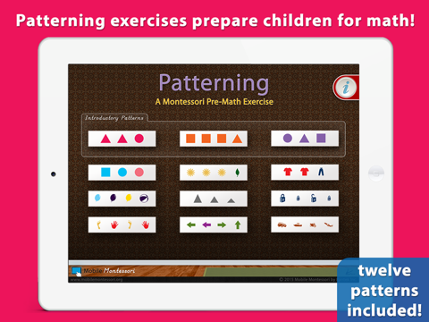 Patterning - A Montessori Pre-Math Exercise - náhled