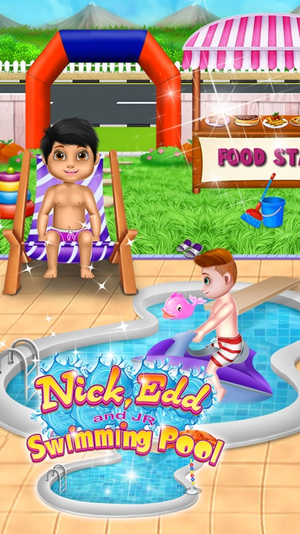 Nick, Edd and JR Swimming Pool