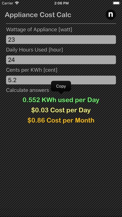 Appliance Cost Calculator screenshot-3