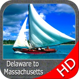 Delaware to Massachusetts HD - GPS chart Navigator