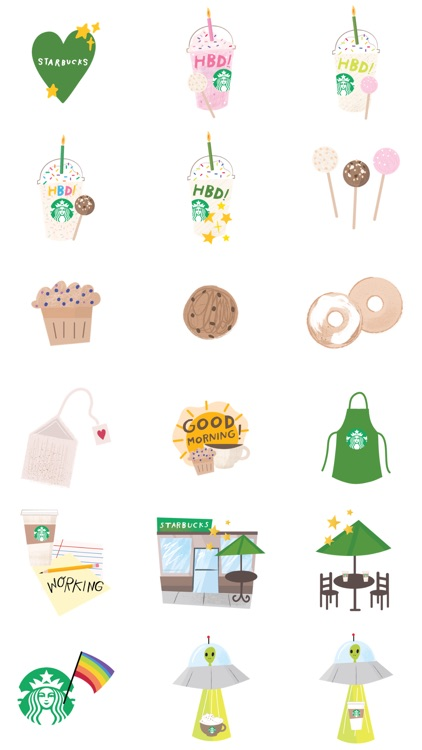 Starbucks Stickers screenshot-4