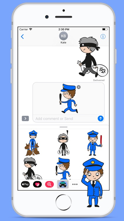 Policeman Funny Stickers