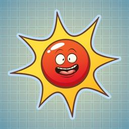 Sticker Me Red Sun