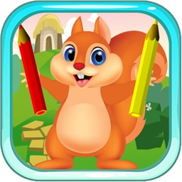 A Little Squirrel Animals Zoo Coloring Books