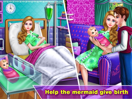 Pragnant Mermaid Care Newborn screenshot 8