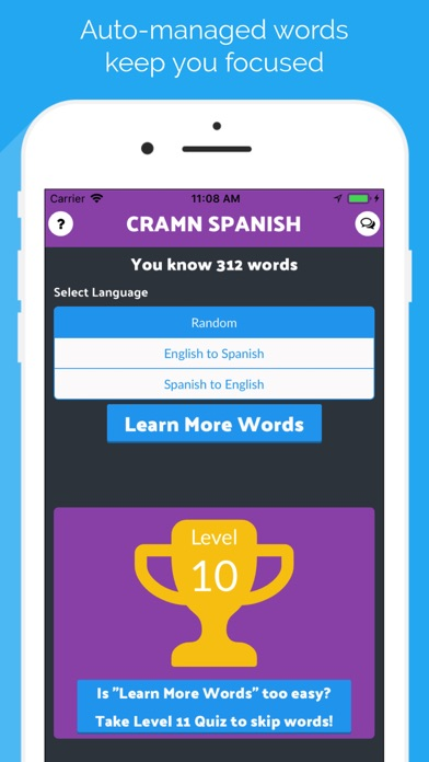 Cramn Spanish Flash Cards screenshot two
