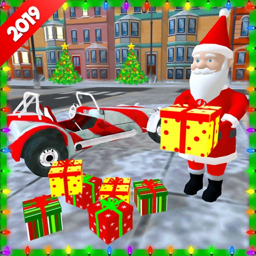 Xmas Santa Car Gift Delivery