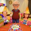 快乐的爷爷生日聚会