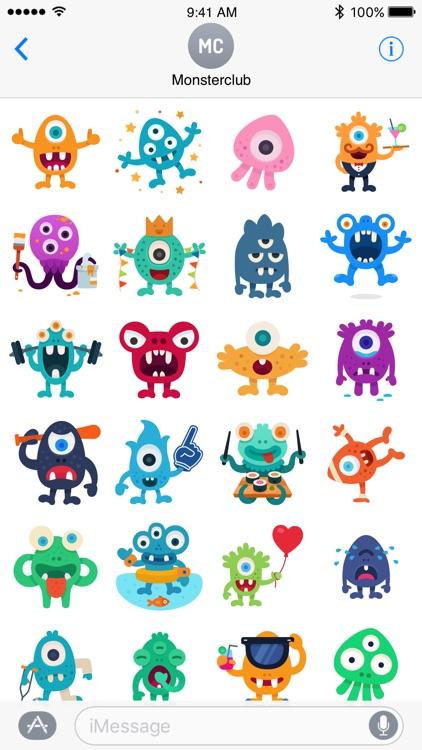 Happy Monster stickers screenshot-3