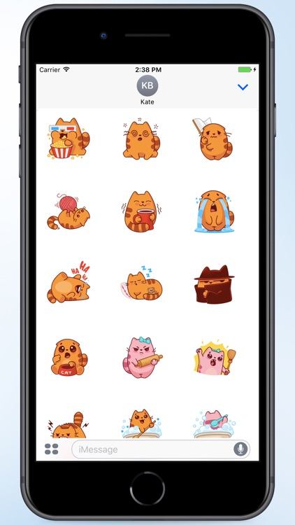 Oval Cat Stickers