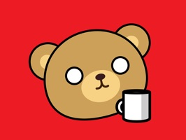 This awkward and weird bear needs coffee to survive