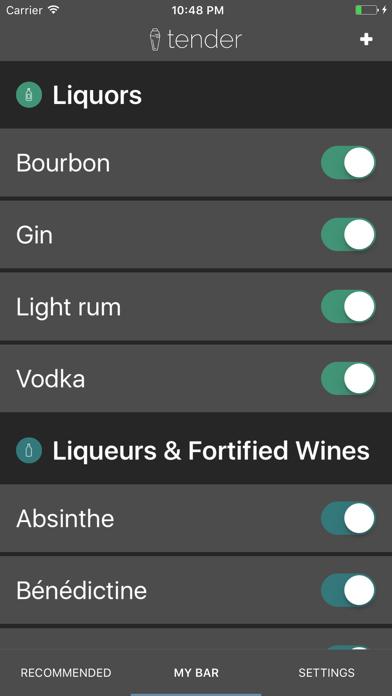 Tender Cocktails Screenshot