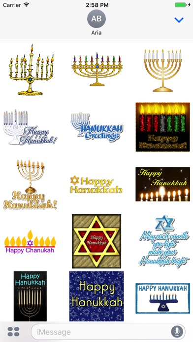 Screenshot for Animated Happy Hanukkah in United States App Store