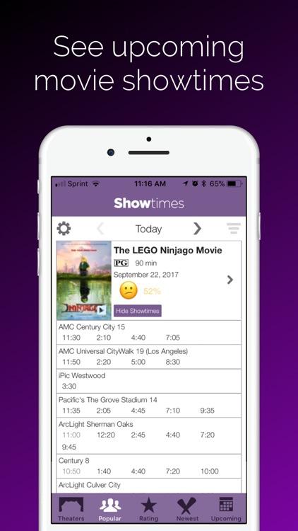 Showtimes - Movie Tickets