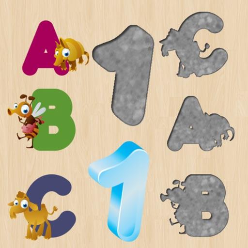 幼児や子供のためのアルファベットのパズル:英語を学ぶ! 無料 - 学ぶ数字 - 子供のためのゲーム - 子供のためのパズル - パズルゲーム