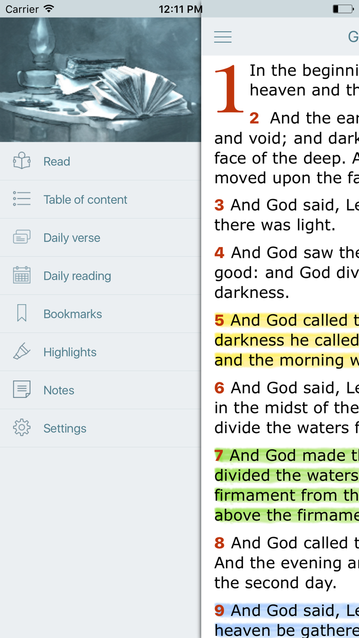 King James Bible with Audio Screenshot