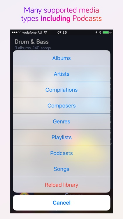 Harken Music Player For iPhone screenshot-1